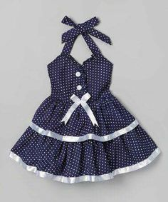 Another great find on Navy Polka Dot & Bow Dress - Toddler & Girls by Lele for Kids Source by amygreencomedy dresses girl Little Girl Fashion, Toddler Fashion, Fashion Kids, Toddler Girl Dresses, Toddler Outfits, Kids Outfits, Toddler Girls, Baby Kids, Baby Boy