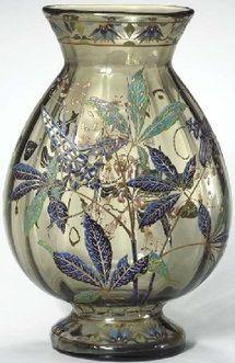 Emile Gallé | Enameled Glass Vase, ca.1895