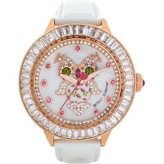 Betsey Johnson Yellow Owl White Strap Watch and other apparel, accessories and trends. Browse and shop 8 related looks.