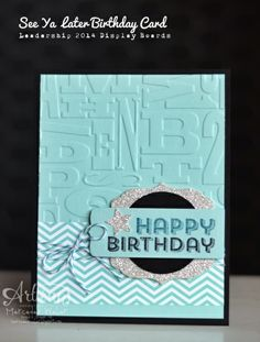 Stampin' Up card...can't wait to get products and get started!
