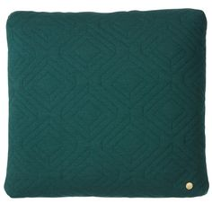 QUILT DARK GREEN CUSHION Designedby Trine Andersen   ferm Living available at Modern Intentions. Shop here for modern throw pillows! Modern Throw Pillows, Cushions, Quilts, Dark, Rugs, Green, Shopping, Design, Home Decor