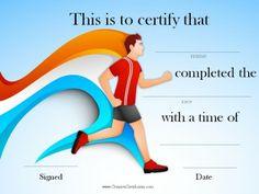 10 best running certificates images on pinterest certificate