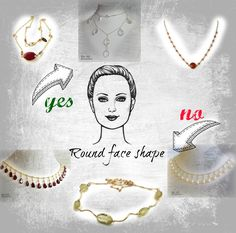 Click to read what necklace you should chose to compliment your round face shape #jewelry #tips