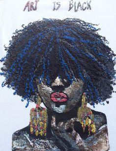 Afro Tshirt Afrocentric T shirt African Natural Hair shirt