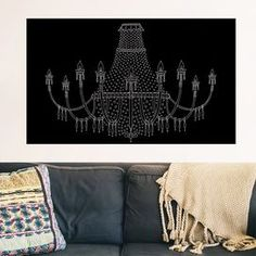 Chandelier Removable Wall Decal