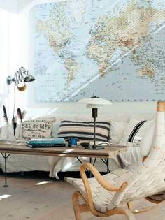Emérita Desastre: Decoración: Mi mapa del mundo