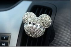 FINEX Auto Mickey Mouse Sparkling Car Fragrance Air Freshener Holder ContainerSet of 2 (White): This modern and cute air freshener will keep your space smelling and looking great. Mickey Mouse Car, Mickey Disney, Disney Diy, Disney Cars, Disney Ideas, Disney Magic, Walt Disney, Disney Car Accessories, Vehicle Accessories
