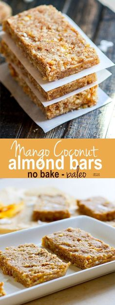These no bake bars are balanced with flavor easy to digest made with natural sugars healthy fats and complete protein. Great for travel pre/post workout fuel breakfast and healthy snacking! No Bake Protein Bars, Protein Bar Recipes, Healthy Protein Snacks, Healthy Bars, No Bake Bars, Healthy Sweets, Paleo Bars, Protein Cake, Protein Muffins