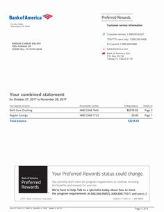 Bank Of America Statement Template . 25 Bank Of America Statement Template . Bank Statement Bank America In 2019 Money Template, Bill Template, Id Card Template, Payroll Template, Templates Free, Passport Template, Invoice Template, Letter Templates, Income Statement