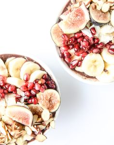 autumn acai bowls with vanilla bean cashew butter I howsweeteats.com