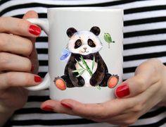 Panda and Bird Mug For Animal Lovers