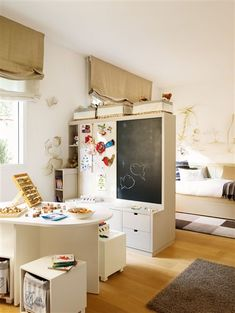 fun art area in a child's bedroom #art #kids