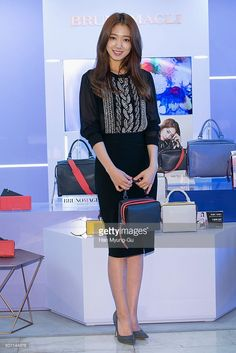 South Korean actress Park Shin-Hye attends the autograph session for Bruno Magli at Lotte Department Store on December 12, 2015 in Busan, South Korea.