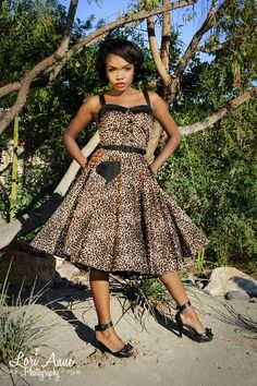 Pinup Couture Betsey Swing Dress in Leopard and Black   Pinup Girl Clothing
