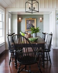 Windsor chairs...love these chairs. remind me of living up north