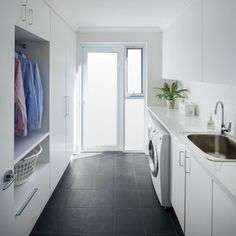 Client Project - Mt Hawthorn - Contemporary - Laundry Room - Perth - by Modern Home Improvers Pantry Laundry Room, Laundry Room Organization, Laundry In Bathroom, Outdoor Laundry Rooms, Modern Laundry Rooms, House Design Photos, Modern House Design, Laundry Room Inspiration, Small Laundry