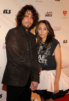 Chris Cornell Photos Photos - Musician Chris Cornell (L) and his wife Vicky Karayiannis arrive at the 2009 MusiCares Person of the Year Tribute to Neil Diamond at the Los Angeles Convention Center on February 6, 2009 in Los Angeles, California. (Photo by Larry Busacca/Getty Images) * Local Caption * Vicky Karayiannis;Chris Cornell - 2009 MusiCares Person Of The Year Honoring Neil Diamond - Red Carpet