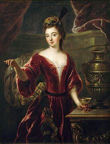 Louise Françoise de Bourbon, Légitimée de France (1 June 1673 – 16 June 1743) was the eldest surviving legitimised daughter of Louis XIV of France and his maîtresse-en-titre, Madame de Montespan. She was said to have been named after her godmother, Louise de La Vallière, the woman that her mother had replaced as the king's mistress. Prior to her marriage, she was known at court as Mademoiselle de Nantes.