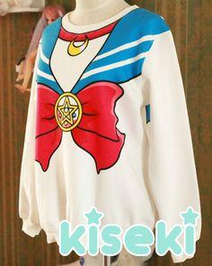 I swear to Luna I will own this sweater. Sailor Moon Sweater Jersey Fairy Kei Pop Kei Retro Anime from Kiseki Kawaii Fashion, Cute Fashion, Fashion Hub, Sailor Moon Merchandise, Kawaii Clothes, Geek Chic, Cosplay, Japanese Fashion, Swagg