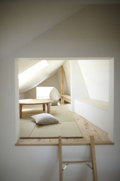 House in Setagawa by SKAL and OUVI. Consider creative use of space in attic etc