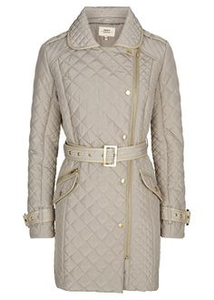 Quilted Long Line Jacket