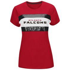 Atlanta Falcons Majestic Women's Touchdown Queen T-Shirt – Red - $26.99