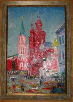 Free Shipping  Oil painting  Impressionism  Red от LLiaMoscow, $399.99