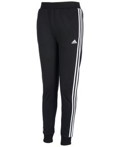 Girls jogger Track Pants classic three stripe Black and white Has side pockets Tricot material Size Large in girl's but can fit a woman's XXS or possibly XS Brand new with tags! Cute Sweatpants Outfit, Black Leggings Outfit, Leggings Are Not Pants, Black Pants, Tribal Leggings, Legging Outfits, Printed Leggings, Adidas Joggers, Jogger Pants