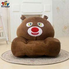 $63! Cartoon beanbag plush bear sofa chair cute little baby Single sofa washable plush toys gift for children free shipping Triver Toy