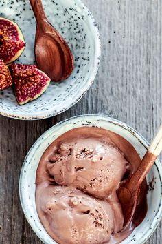 Schokoladen-Zimt-Eis / chocolate cinnamon ice cream