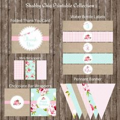 Baby Shower Banner Free Printable Shabby Chic 63 Ideas For 2019 Cumpleaños Shabby Chic, Shabby Chic Banners, Shabby Chic Invitations, Printable Banner, Printable Invitations, Birthday Invitations, Printables, Free Printable, Happy Birthday Banners
