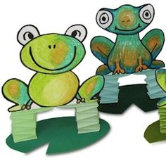 Jumping Frogs Craft  //  http://www.freekidscrafts.com/jumping_frogs-e1779.html  Love this, so cute!!