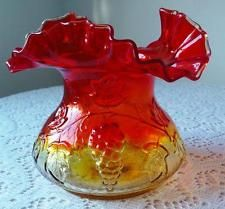 Image result for Kanawha West Virginia Glass Orange Amberina basket Grapes Vines