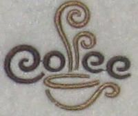 Coffee Cup Embroidery Design.