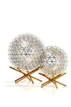 Raimond Tensegrity 89 and 61 - Moooi Floor Lighting (Nice way to replace typical side table and add more light to a space)