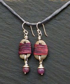 Red Warrior earrings by alccreations on Etsy