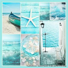 I see that you can just sit there thinking, on your velvet throne. Cottages By The Sea, Beach Cottages, Pot Pourri, Collages, Color Collage, Mood Colors, Beautiful Collage, Beach Color, Jolie Photo