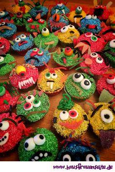 Monster-Muffins - Utes Monster-Muffins sind der Renner auf jedem Kindergeburtstag oder Halloweenfest