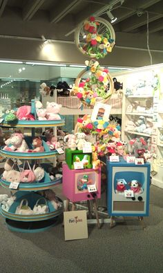 Here's our display of our plush line Nat & Jules at the @DallasMarket showroom.