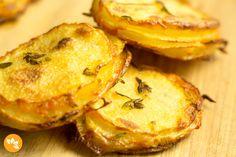 Receitas de batatas - Batata Crocante com Parmesao