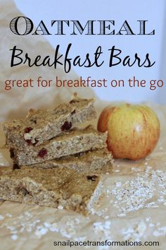 These oatmeal breakfast bars are simple to make and are great for those days when you have to eat breakfast on the go. Freezer friendly.