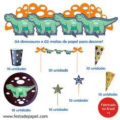 Kit Festa Dinossauro! Compre no site ou via depósito a vista com 5 % de desconto ( mensagem no direct ...