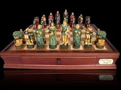 "Robin Hood Chess Set with Drawers 20"""