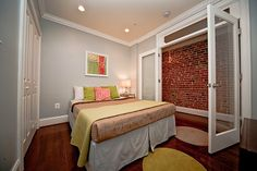Idea For Small Basement Room  I Love The Paint Color