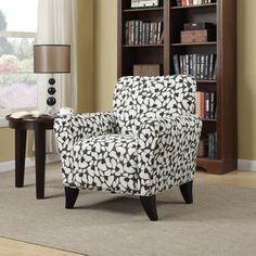 @Overstock - The Portfolio Seth arm chair features a transitional design with flared arms and a shaped back. The Seth chair is covered in a charcoal gray and cream mosaic modern floral fabric.http://www.overstock.com/Home-Garden/Portfolio-Seth-Gray-Modern-Floral-Curved-Back-Arm-Chair/7877066/product.html?CID=214117 $249.99