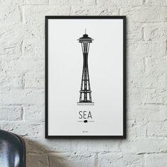 Seattle Icon poster