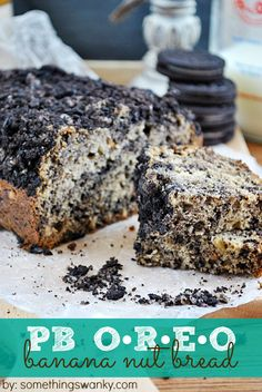 Peanut Butter Oreo Banana Bread (whoa!) Peanut Butter and Oreos are a natural pairing! They're the perfect complimentary flavors to banana, which makes this Peanut Butter Oreo Banana Bread a trifecta of awesome flavors!