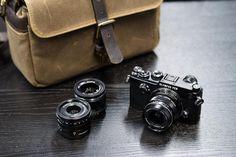 Olympus PEN-F with three lenses and ONA bag Photography Camera, Photography Tips, Camera Equipment, Camera Gear, Camera Bags, Vintage Cameras, Leica, Olympus, Retro Camera