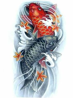 I incredibly am keen on the tones, outlines, and detail. This is a brilliant layout if you are looking for a Koi Dragon Tattoo, Pez Koi Tattoo, Koi Tattoo Sleeve, Carp Tattoo, Japanese Sleeve Tattoos, Purple Tattoos, Feather Tattoos, Leg Tattoos, Body Art Tattoos