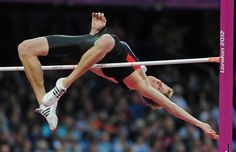 Canada's Derek Drouin earned a bronze medal in the men's high jump in the Olympic Stadium